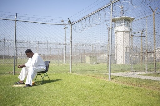 lone man in prison